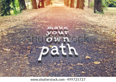 Lovely Motivational Quote To Create Future On Nature Background.