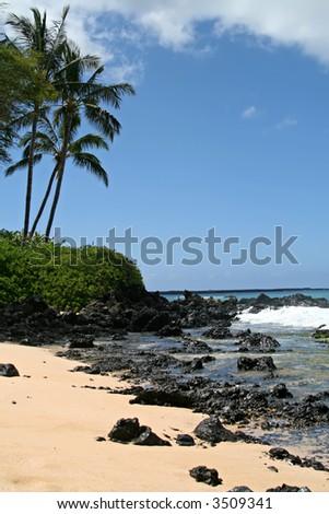 Makena (Big) Beach, Maui - stock photo