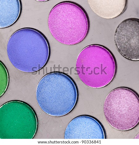 makeuo color palette - stock photo