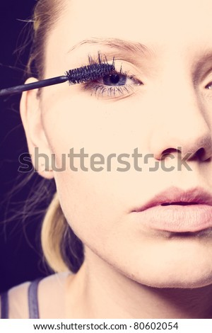 makeup - stock photo