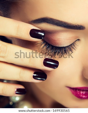 Makeup and Manicure - stock photo