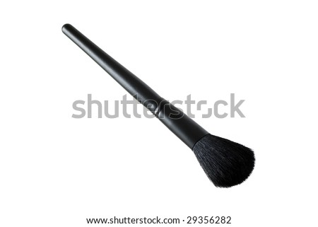 Makeup brush isolated on the white background - stock photo