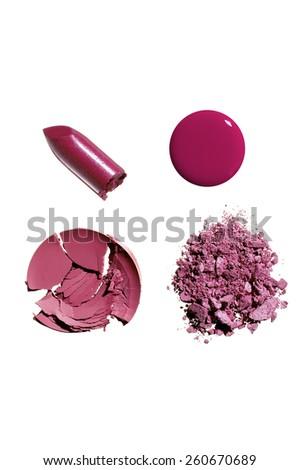 Makeup Chunks Spills & Crumbles - stock photo