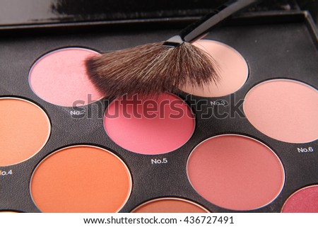 Makeup collection isolated on white background.