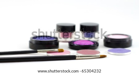 Makeup cosmetics. - stock photo