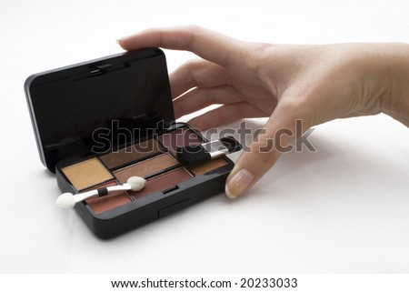 Makeup female hand
