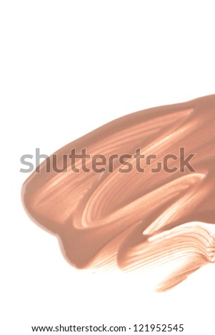 makeup foundation isolated on white background - stock photo