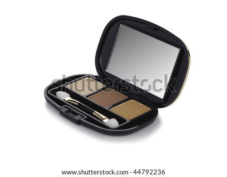 makeup kit of three colores and a brush