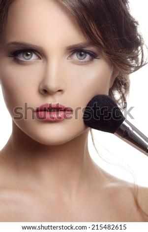 Makeup. Make-up Face - stock photo
