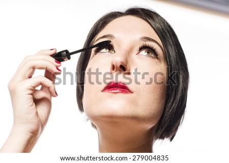 Makeup model - stock photo