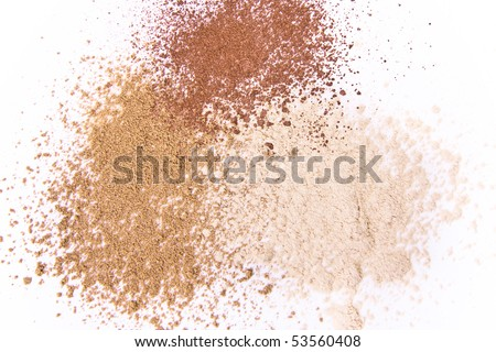 makeup powder isolated - stock photo