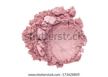 Makeup powder isolated on white background - stock photo