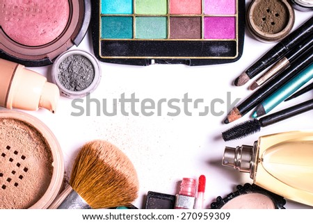 makeup products - stock photo