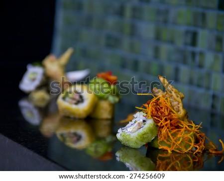 Maki Sushi Display  - stock photo