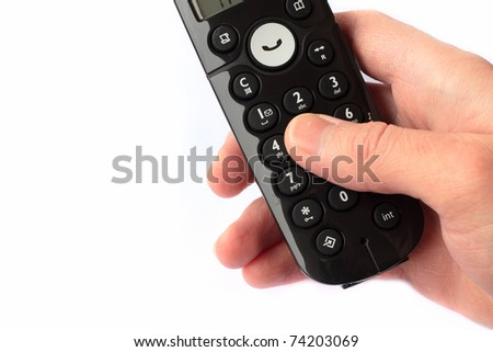 Making a call - stock photo