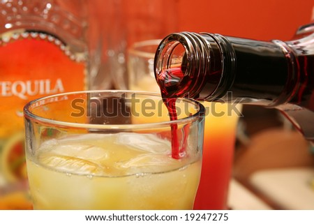 making a cocktail - stock photo