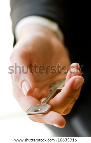 Making a house deal - stock photo