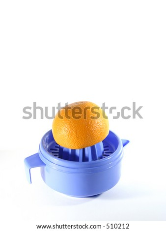 making a juice - stock photo