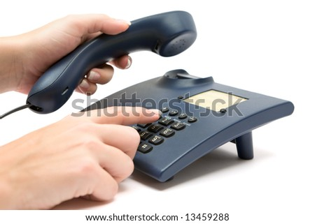 Making a Phone Call - stock photo