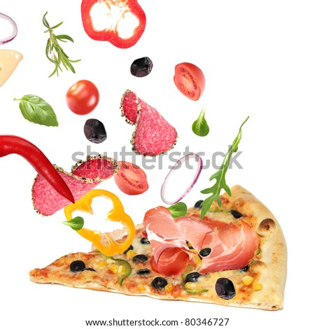 Making a pizza. Part III - stock photo
