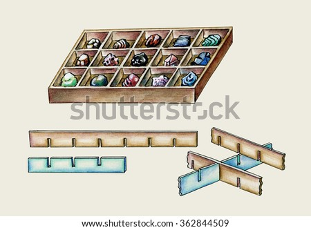 Making box for mineral collection illustrated instruction manual