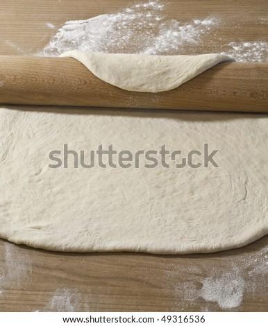 making bread dough, wheat - stock photo