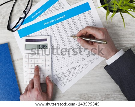 Making calculations - stock photo