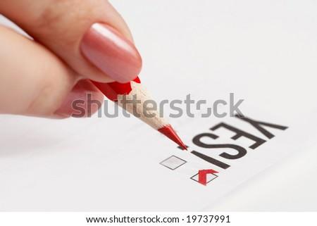 Making choice - stock photo