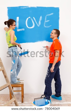 Making confession of love during renovation