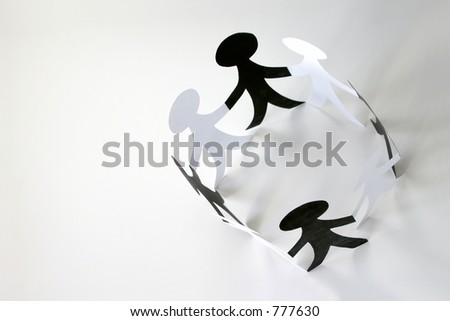 Making Connections: depicting families, business connections, teamwork, support systems, etc. - stock photo