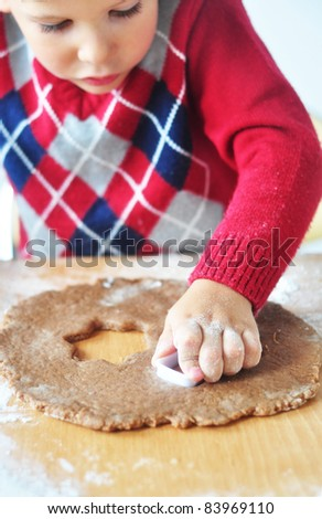 Making cookies - stock photo