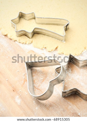 Making cookies, shallow depth of field photo - stock photo