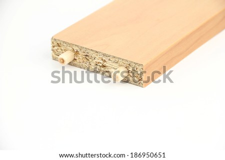 Making dowelling joints - stock photo