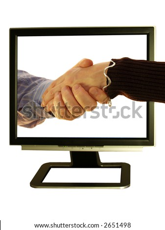 Making friends use your pc and shake hands