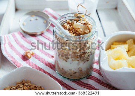 Making Healthy Breakfast - stock photo