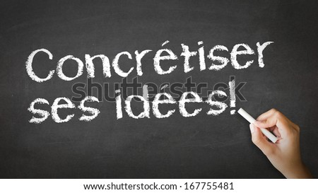 Making Ideas Happen (In French) - stock photo