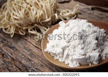 Making noodle with wheat flour