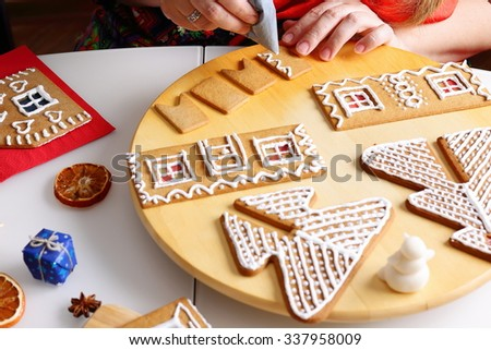 Unique Gingerbread House Wall Decoration Adornment - Wall Art Design ...