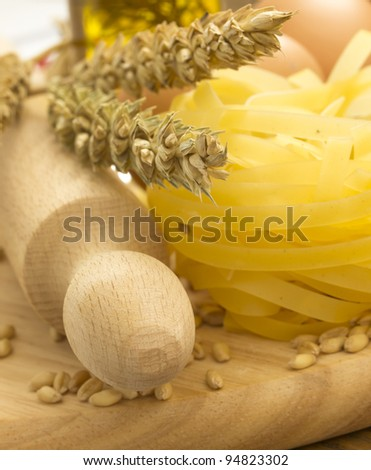 making pasta - stock photo