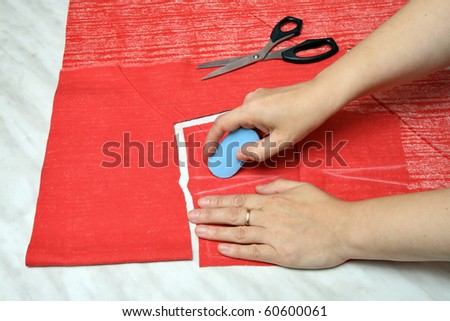 Making patterns using pattern - stock photo
