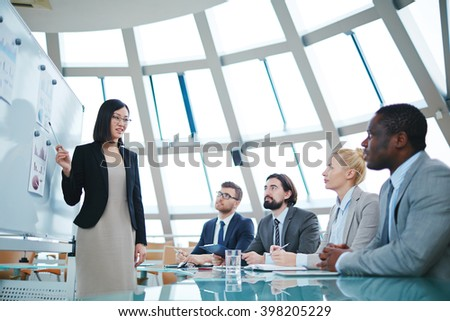 Making presentation - stock photo