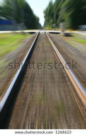 Making Tracks - stock photo