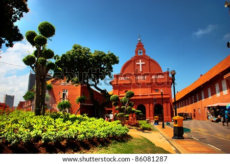 Malacca Christ Church HDR - stock photo