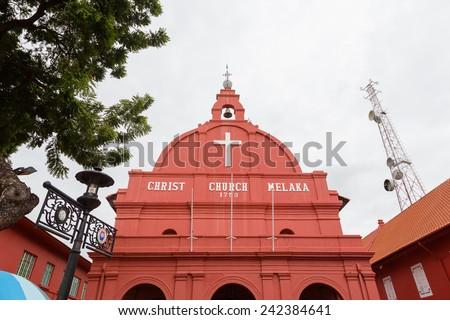 Malacca Christ Church in Malacca, Malaysia - stock photo