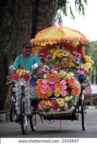Malacca traditional trishaw. - stock photo