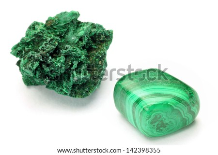 malachite - stock photo