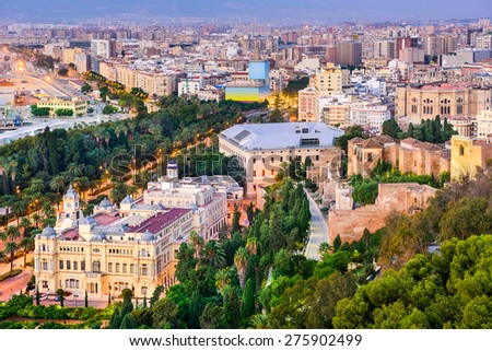 Malaga, Spain cityscape. - stock photo