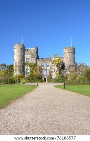 Malahide Castle in Dublin, Ireland. - stock photo