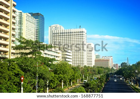 Malate district, Metro Manila, Philippines - stock photo
