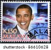 MALAWI - CIRCA 2008: A stamp printed in Malawi shows the 44th President of United States of America, Barack Obama, circa 2008 - stock photo
